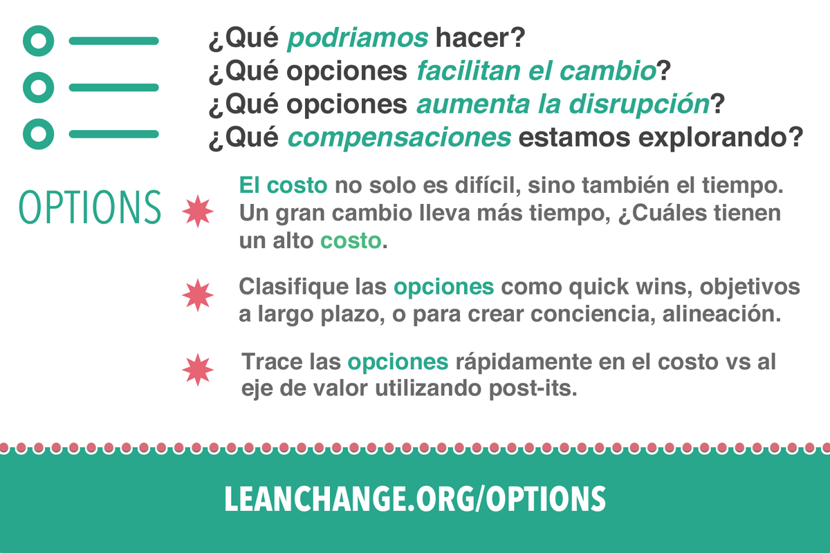 Options de Lean change management
